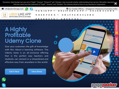https://www.uberlikeapp.com/udemy-clone website snapshot