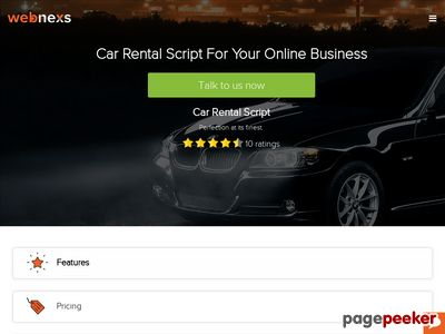 https://www.webnexs.com/car-rental-script.php website snapshot