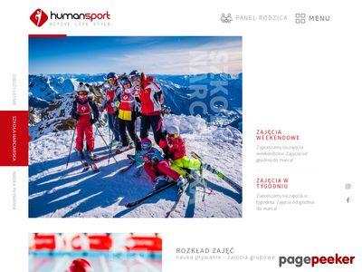 Humansport - nauka pływania, nauka jazdy na nartach, trener personalny, human sport life style, cieszyn, ustron, rybnik