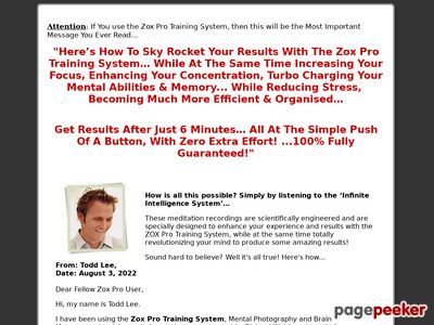 Infinite Intelligence System | Zox Pro | Zox Pro Training | Zoxpro Training System | Improve Memory | Strengthen Concentration | Boost IQ | Increase Focus infiniteintelligencesystem