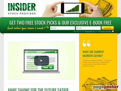 InsiderStockProviderInsiderStockProvider - GET TWO FREE STOCK PICKS & OUR EXCLUSIVE E-BOOK FREE