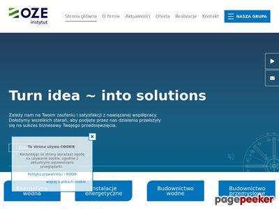 Instytut OZE Sp. z o.o. - Usługi doradczo - projektowe