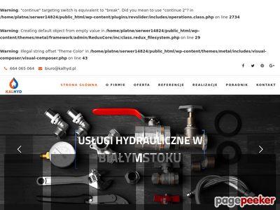 Hydraulik w Bialymstoku - Kalhyd.pl