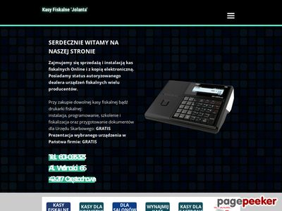 Kasy fiskalne Częstochowa 'Jolanta'