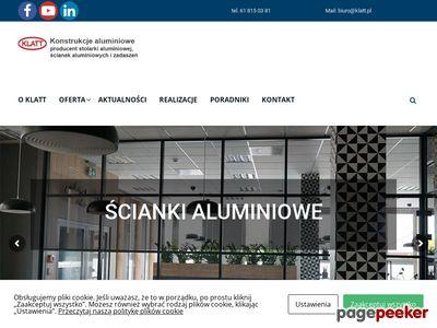 Konstrukcje aluminiowe KLATT Poznań