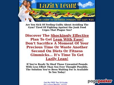 Lazily Lean - Your Guide To Shedding Pounds The Lazy Way 1