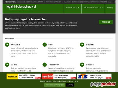 Legalni bukmacherzy od 1 kwietnia 2017