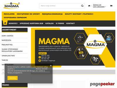 Silniki prądu stałego, maska spawalnicza - Magma