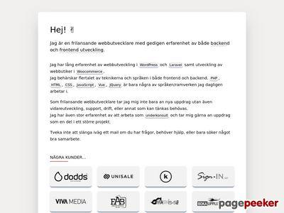 Magnus Andersson - Webbdesigner & Webbutvecklare - http://magnus-andersson.nu