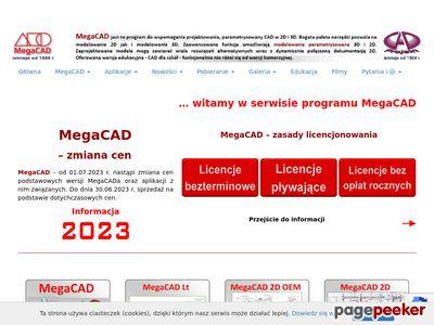 Http://megacad.pl projektowanie 2D