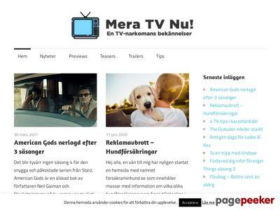 Mera TV Nu! - En TV-narkomans bek�nnelser - http://meratv.nu