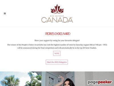 加拿大环球小姐