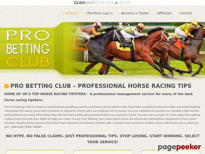 Professional Horse Racing Service probettingclub