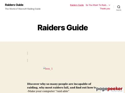 Raiders Guide | The World of Warcraft Raiding Guide
