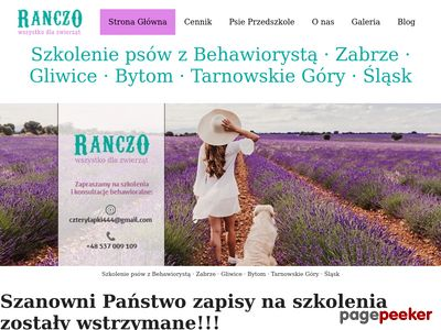 Ranczodlazwierzat.pl - Profesjonalna tresura psa