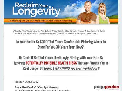 Reclaim Your Longevity: 8 Simple Steps To Dial In 20 More Years Of Peak Performance Living 1