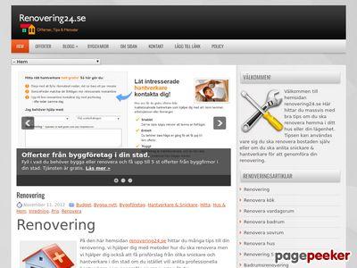 Renovering - http://renovering24.se