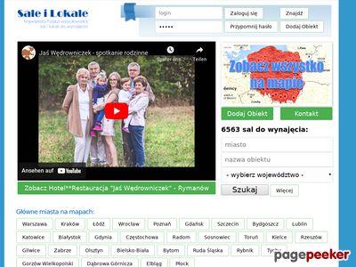 Baza i wyszukiwarka sal na wesele,chrzciny,komunie