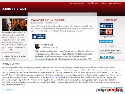 School´s Out - http://schoolsoutchristermagister.wordpress.com