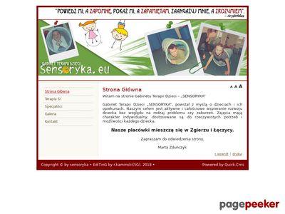 Sensoryka - gabinet integracji sensorycznej