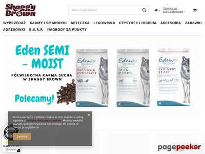 Sklep Zoologiczny Shaggy Brown