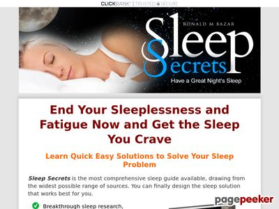 Sleep Secrets - How To Fall Asleep Fast, Beat Fatigue And Insomnia 1