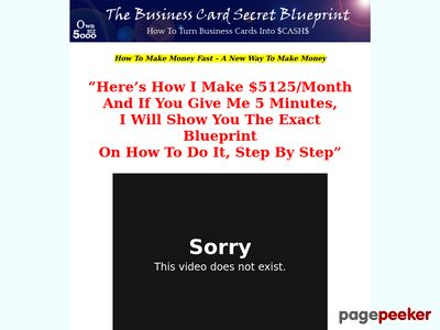 How To Make Money Fast - How To Turn Business Cards Into $5000 1