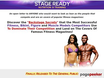 Stage Ready Nutrition & Training 1