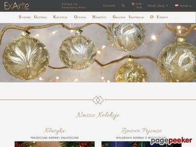 ExArte - szklane bombki choinkowe