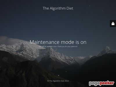 The Algorithm Diet - Weight Loss Program by Kevin McMillian 1