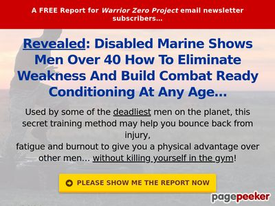 Revealed: Disabled Marine Shows Men Over 40 How To Eliminate Weakness And Build Combat Ready Conditioning At Any Age… 1