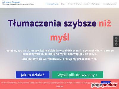 Tłumaczenia angielski Wrocław