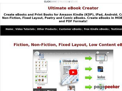 eBook Creator Software - Ultimate eBook Creator For Amazon Kindle 1