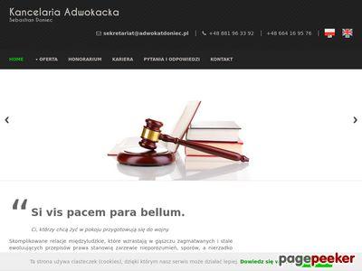 Adwokat S. Doniec - Gorlice i Jasło