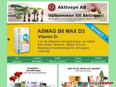 Aktiv Syn H�lsokostbutik - http://www.aktivsyn.se