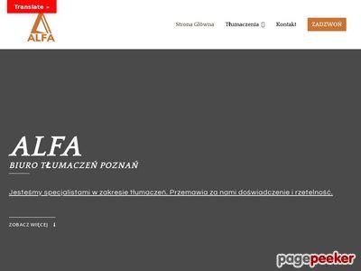 """ALFA"" Biuro Tłumaczeń - Toruń"