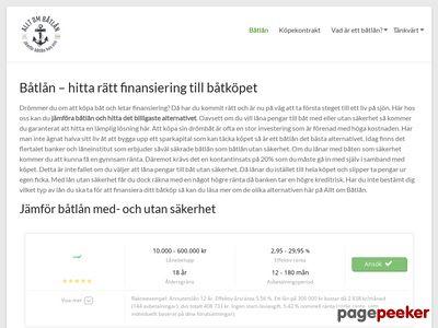 Information om B�tl�n - http://www.alltombatlan.se