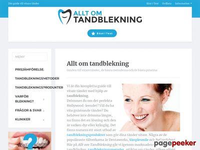 Allt om Tandblekning - http://www.alltomtandblekning.se