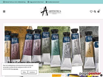 Artistica Konstn�rsmaterial - http://www.artistica.nu