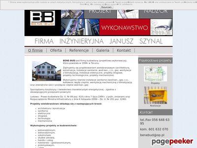 """Firma Inżynieryjna """"Bene-bud"""" - Firma budowlana Toruń"""