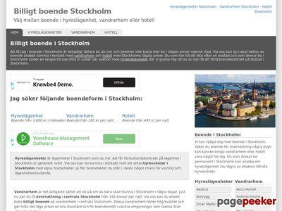 Billigt boende Stockholm - http://www.billigtboendestockholm.se