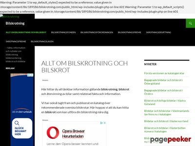 Allt om bilskrotning,  bildemontering och bilskrot - http://www.bilskrotning.com