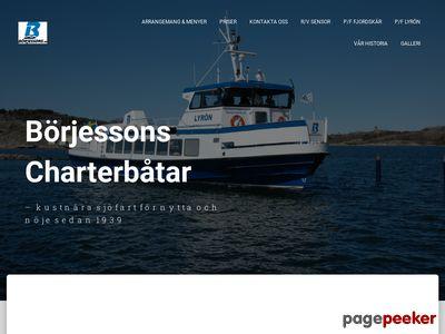 B�rjessons sj�taxi och charterb�tar HB - http://www.borjessons.se