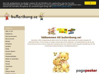Barnbutik p� n�tet med barnartiklar och leksaker - http://www.bulleribong.se