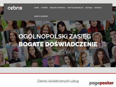 Agencja badania rynku CeBRiS