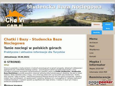 Studencka Baza Noclegowa - chatki i bazy - Tanie spanie w polskich górach