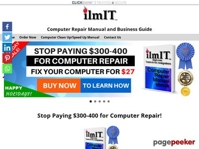 Computer Repair Manual. IT Support Services Business Guide www