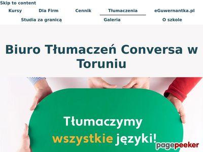 Biuro Tłumaczeń Conversa w Toruniu