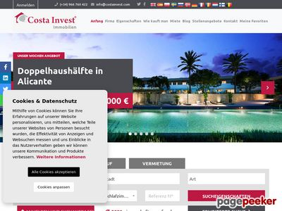 Www.costainvest.com - Hiszpania domy