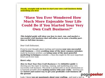 Craft Business - How to Start Your Own Craft Business 1